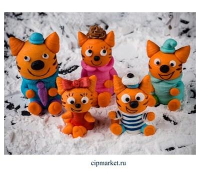 Фигурка сахарная Семья котов, набор 5 шт. Размер: 4,5-6 см - фото 8185