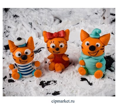 Фигурка сахарная Веселые котята, набор 3 шт. Размер: 4-5 см - фото 8187