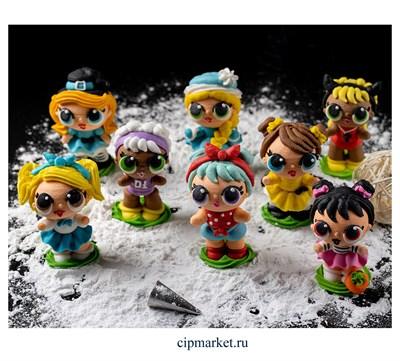 Фигурка сахарная Куколки микс. Размер: 7-8 см - фото 8188