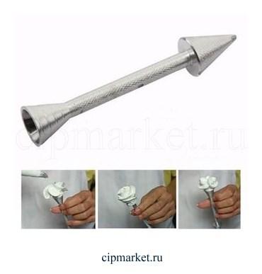 Гвоздь металлический для создания кремовых цветов. - фото 8276