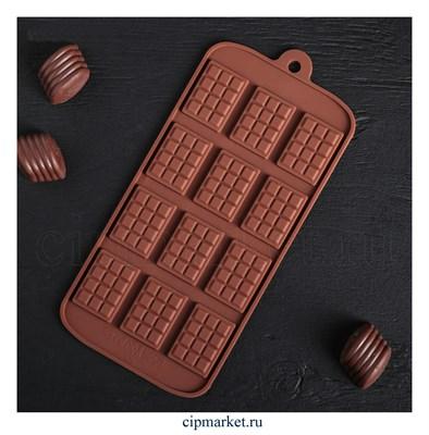 Форма для шоколада и конфет Плитки. Размер: 21*10 см - фото 8291