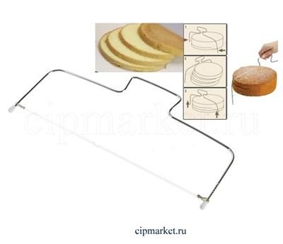 Струна для нарезки бисквита, нерж. сталь Размер: 35 см. - фото 8324