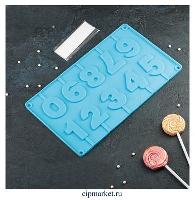 Форма для шоколада и конфет Арифметика, 10 ячеек. Размер: 29*17 см - фото 8327