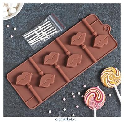 Форма для шоколада и конфет Поцелуй. Размер: 24*9,5 см. - фото 8385