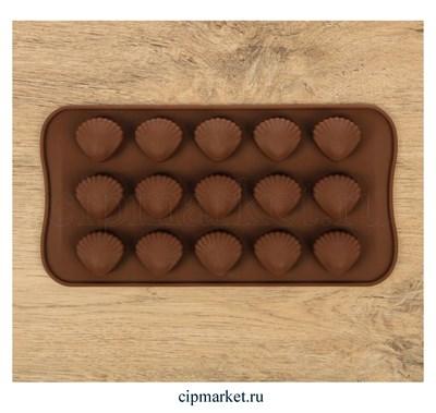 Форма для шоколада и конфет Ракушки. Размер: 21*10 см. - фото 8393
