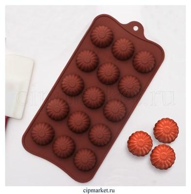 Форма для шоколада и конфет Ассорти. Размер: 21,5*10,5 см. - фото 8401