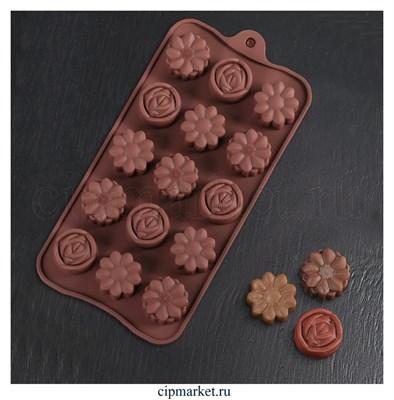 Форма для шоколада и конфет Клумба. Размер: 21,5*10,5 см. - фото 8405