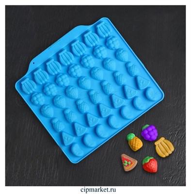 Форма  для шоколада и конфет Фруктовый бум, силикон. Размер: 18*16 см. - фото 8415