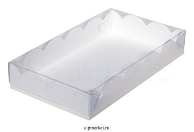 Коробка для пряников с прозрачной крышкой РК Белая. Размер:20 х12 х3,5 см - фото 8553