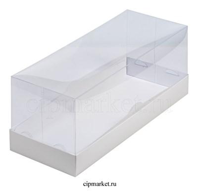 Коробка для рулета с окном и пластиковой крышкой Премиум РК Белая. Размер: 30 х 12 х 12 см - фото 8555