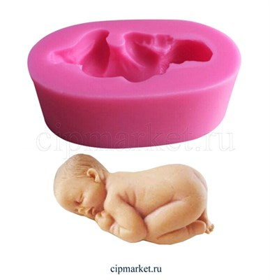Молд  3D  Малыш. Длина молда: 6,5-8 см, высота 2,5 см. - фото 8571