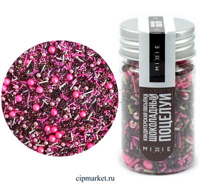 Посыпка сахарная ассорти MIXIE Шоколадный поцелуй. Вес: 50 гр, Россия - фото 8615