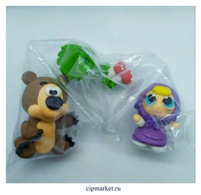 Фигурка сахарная Настя и Мишка, набор 2 шт. Цвет микс. Размер: 2,4,5,6 см. - фото 8636