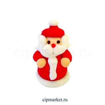 Сахарная фигурка Дед Мороз объемный. Размер: 4,5 см - фото 8656