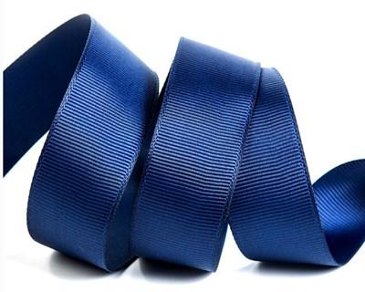 Лента репсовая Синяя. Ширина: 1 см. Длина: 23 м. - фото 8658