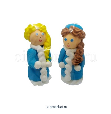 Сахарная фигурка Снегурочка объемная. Размер: 4,5 см - фото 8659