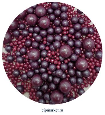 Посыпка шарики Сиреневые Ассорти микс №106 драже зерновое. Вес: 50 гр. - фото 8720