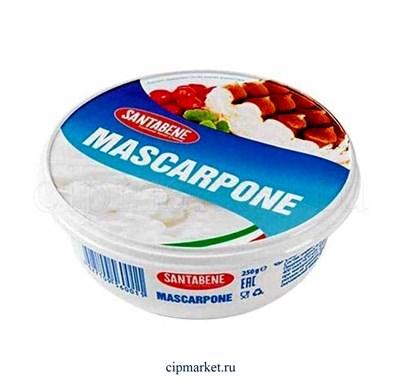 Сыр Маскарпоне Santabene сливочный мягкий 80%. Россия. Вес: 250 гр. - фото 8895