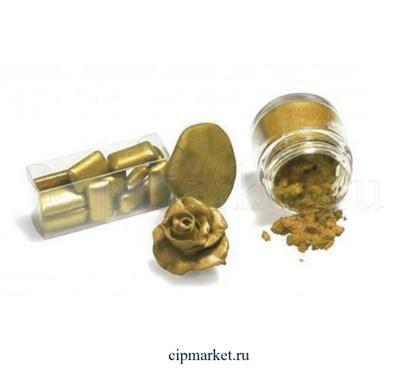 """Кандурин-пищевой краситель """"Наш кондитер"""" Темное золото. Вес: 5 гр - фото 8913"""