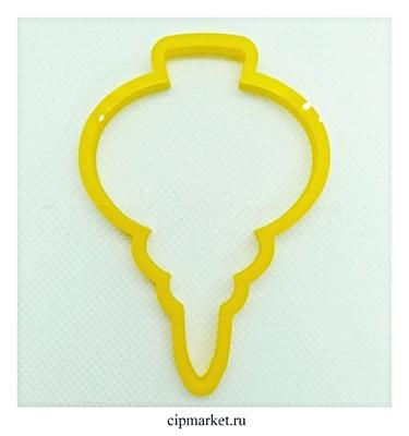Вырубка  Сосулька/Игрушка. Материал: пластик. Размер: 8 см - фото 8947