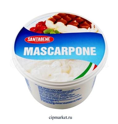 Сыр Маскарпоне Santabene сливочный мягкий 80%. Россия. Вес: 500 гр - фото 9057