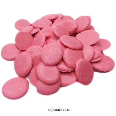 Глазурь Розовая монетки, вес: 250 гр - фото 9117