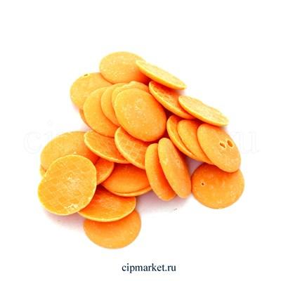 Глазурь монетки Шокомилк Оранжевая (апельсин), вес: 250 гр - фото 9118