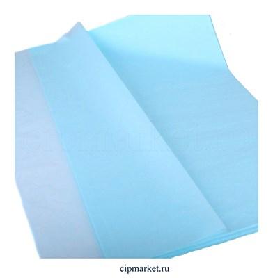 Бумага тишью упаковочная Голубая. Набор 3 шт. Размер: 76х50 см - фото 9202