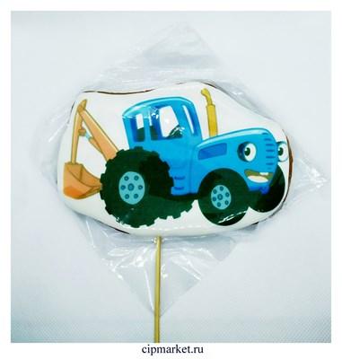 Пряник медовый Топпер Синий трактор. Размер: 9,5 см. Вес: 110 гр. Лицензия - фото 9250