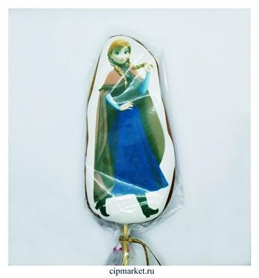 Пряник медовый Топпер Холодное сердце Анна. Размер: 15 см. Вес: 80 гр. Лицензия - фото 9290