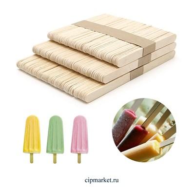 Палочки для мороженого, набор 50 шт, дерево. Размер: 15×1,9 см - фото 9340