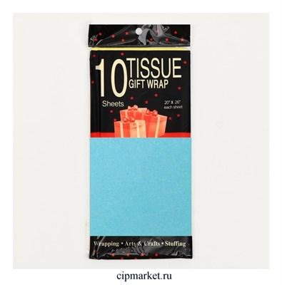 Бумага тишью упаковочная СЛ Голубая. Набор 10 шт. Размер: 66х50 см - фото 9393