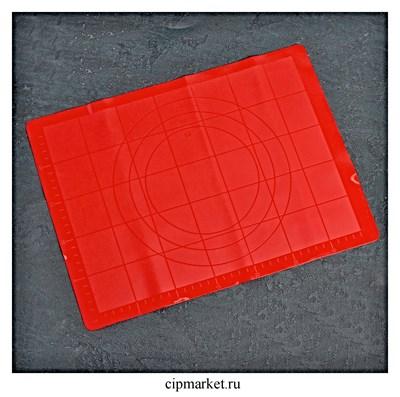 Коврик для выпечки и раскатки с разлиновкой силиконовый, цвета микс. Размер: 38×30см - фото 9412