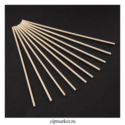 Палочки для леденцов, набор 10 шт, дерево. Размер: 20 см, d=3 мм - фото 9471