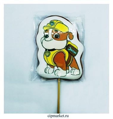 Пряник медовый Топпер Щенячий патруль Крепыш. Размер: 10,5 см. Вес: 65 гр. Лицензия - фото 9484