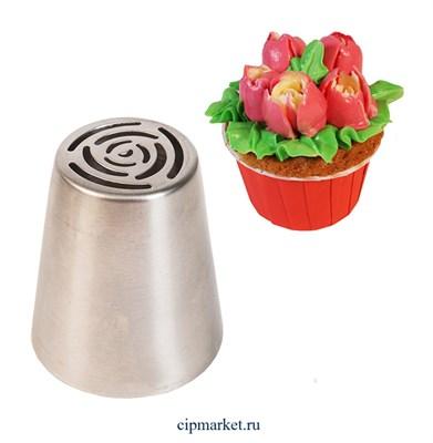 Насадка №29 Тюльпан (Роза). Размер: 4,4х2.5х3.8 см - фото 9503