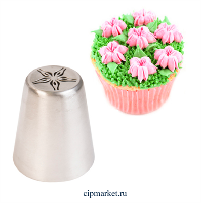 Насадка №28 Тюльпан. Размер: 4,2х3,5х1,8 см - фото 9506