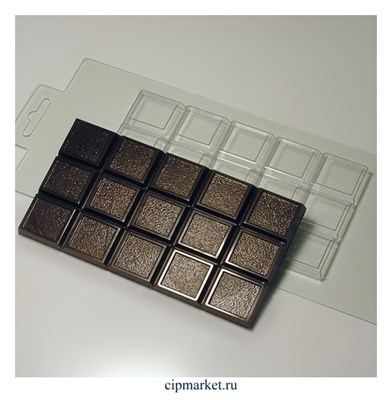 Форма для шоколада Плитка Мелкое зерно, пластик. Размер формы: 15х8 см - фото 9594