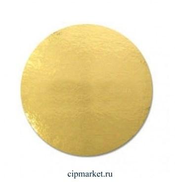 Подложка 18 см, золото-жемчуг, 1,5 мм(двусторонняя) Картон ламинированный. - фото 9689