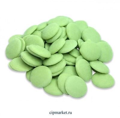 Глазурь монетки Шокомилк Зеленая (яблоко), вес: 250 гр - фото 9832