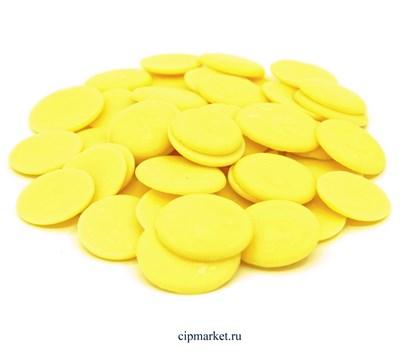 Глазурь монетки Шокомилк Желтая (сладкий лимон), вес: 250 гр - фото 9923