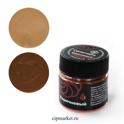 Краситель сухой жирорастворимый Caramella Коричневый. Вес: 5 гр - фото 9950