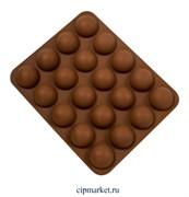 Форма для выпечки силиконовая Полусфера 20 ячеек (d=3,7). Размер: 22,6х18,5х3 см