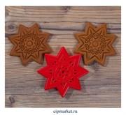 Вырубка со штампом Рождественная звезда. Материал: пластик. Размер: 10,8х10,8 х1,5 см