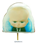 Пряник медовый Топпер Босс Молокосос- 2. Размер: 12 см. Вес: 80 гр