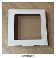 Коробка для пряников с окном. Размер: 20*20*4 см.