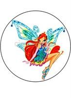 Съедобная картинка фея Винкс  Блум № 01217, лист А4.  Вафельная/сахарная картинка.