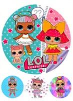 Съедобная картинка Куклы LOL № 01299. Лист А4. Вафельная/сахарная картинка.
