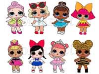 Съедобная картинка Куклы LOL № 01301. Лист А4. Вафельная/сахарная картинка.