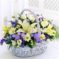 Съедобная картинка Букет цветов № 01267, лист А4. Вафельная/сахарная картинка.